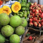 Breadfruit, ackee & sweet potatoes at Saint Ann's Bay market.